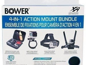Bower 4 in 1 Action Mount Bundle for GoPro