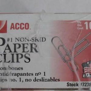 Packs 100 Each Acco Paper Clips2