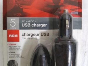 RCA 5 Volt AC and DC USB Charger