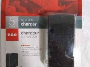 RCA 5 Volt AC to USB Charger
